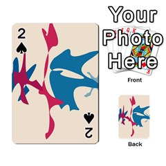 Decorative amoeba abstraction Playing Cards 54 Designs