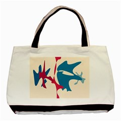 Decorative amoeba abstraction Basic Tote Bag (Two Sides)