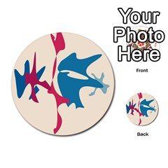 Decorative amoeba abstraction Multi-purpose Cards (Round)