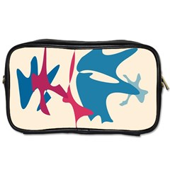 Decorative amoeba abstraction Toiletries Bags