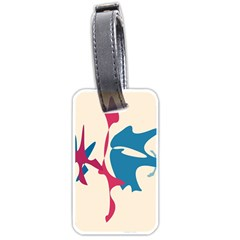 Decorative amoeba abstraction Luggage Tags (Two Sides)