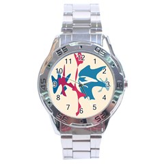 Decorative amoeba abstraction Stainless Steel Analogue Watch