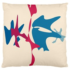 Decorative amoeba abstraction Large Cushion Case (Two Sides)