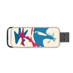 Decorative amoeba abstraction Portable USB Flash (Two Sides)