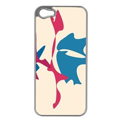 Decorative amoeba abstraction Apple iPhone 5 Case (Silver)