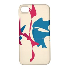 Decorative Amoeba Abstraction Apple Iphone 4/4s Hardshell Case With Stand