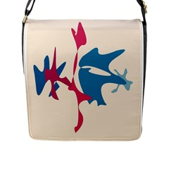 Decorative amoeba abstraction Flap Messenger Bag (L)