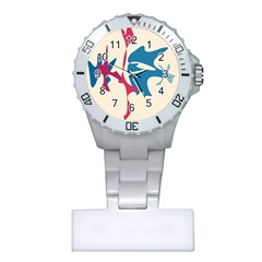 Decorative amoeba abstraction Plastic Nurses Watch