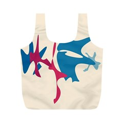 Decorative amoeba abstraction Full Print Recycle Bags (M)