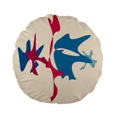 Decorative amoeba abstraction Standard 15  Premium Flano Round Cushions