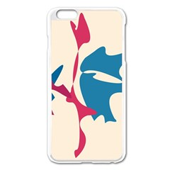 Decorative amoeba abstraction Apple iPhone 6 Plus/6S Plus Enamel White Case