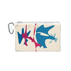 Decorative amoeba abstraction Canvas Cosmetic Bag (S)