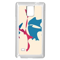 Decorative amoeba abstraction Samsung Galaxy Note 4 Case (White)