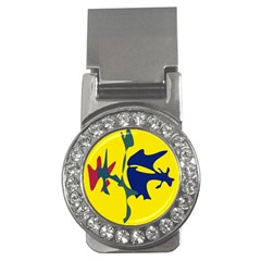 Yellow amoeba abstraction Money Clips (CZ)