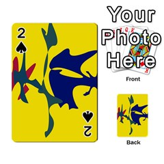 Yellow amoeba abstraction Playing Cards 54 Designs