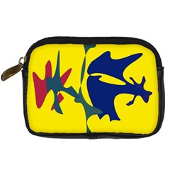 Yellow amoeba abstraction Digital Camera Cases