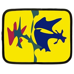 Yellow amoeba abstraction Netbook Case (XL)