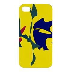 Yellow amoeba abstraction Apple iPhone 4/4S Hardshell Case