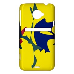Yellow amoeba abstraction HTC Evo 4G LTE Hardshell Case