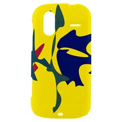 Yellow amoeba abstraction HTC Amaze 4G Hardshell Case