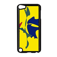 Yellow amoeba abstraction Apple iPod Touch 5 Case (Black)