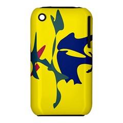 Yellow amoeba abstraction Apple iPhone 3G/3GS Hardshell Case (PC+Silicone)