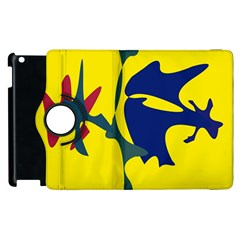 Yellow amoeba abstraction Apple iPad 2 Flip 360 Case