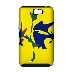 Yellow amoeba abstraction Samsung Galaxy Note 2 Hardshell Case (PC+Silicone)