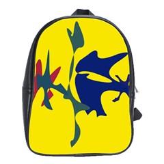 Yellow amoeba abstraction School Bags (XL)