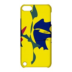 Yellow amoeba abstraction Apple iPod Touch 5 Hardshell Case with Stand
