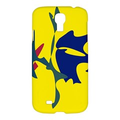 Yellow amoeba abstraction Samsung Galaxy S4 I9500/I9505 Hardshell Case