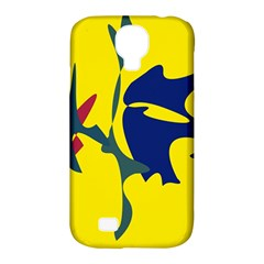 Yellow amoeba abstraction Samsung Galaxy S4 Classic Hardshell Case (PC+Silicone)