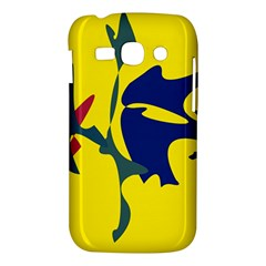 Yellow amoeba abstraction Samsung Galaxy Ace 3 S7272 Hardshell Case