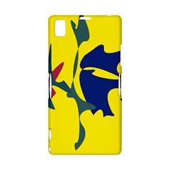 Yellow amoeba abstraction Sony Xperia Z1