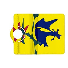 Yellow amoeba abstraction Kindle Fire HD (2013) Flip 360 Case