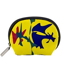 Yellow amoeba abstraction Accessory Pouches (Small)