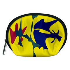 Yellow amoeba abstraction Accessory Pouches (Medium)