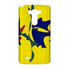 Yellow amoeba abstraction LG G3 Hardshell Case
