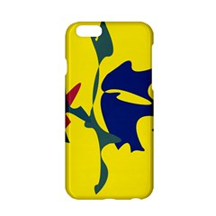 Yellow amoeba abstraction Apple iPhone 6/6S Hardshell Case