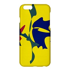 Yellow amoeba abstraction Apple iPhone 6 Plus/6S Plus Hardshell Case