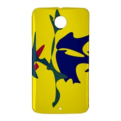 Yellow amoeba abstraction Nexus 6 Case (White)