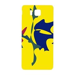 Yellow amoeba abstraction Samsung Galaxy Alpha Hardshell Back Case