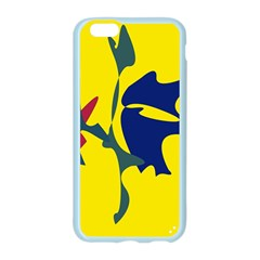 Yellow amoeba abstraction Apple Seamless iPhone 6/6S Case (Color)