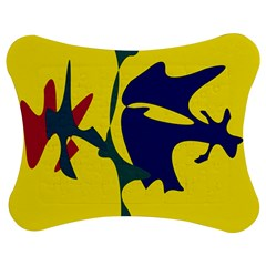 Yellow amoeba abstraction Jigsaw Puzzle Photo Stand (Bow)