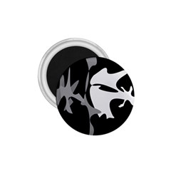 Black and white amoeba abstraction 1.75  Magnets