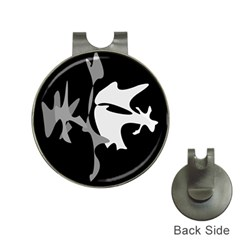 Black and white amoeba abstraction Hat Clips with Golf Markers