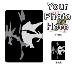 Black and white amoeba abstraction Multi-purpose Cards (Rectangle)
