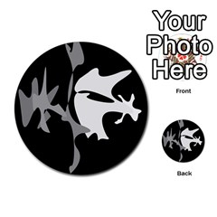 Black and white amoeba abstraction Multi-purpose Cards (Round)