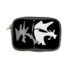 Black and white amoeba abstraction Coin Purse
