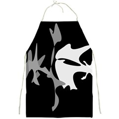 Black and white amoeba abstraction Full Print Aprons